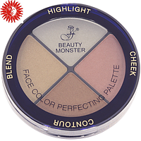 Палитра для макияжа лица 4в1 FFleur Beauty Monster FC-53