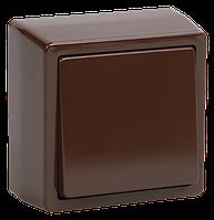 ВСк20-1-0-БК Выключатель кнопочный для открытой установки коричневый БРИКС
