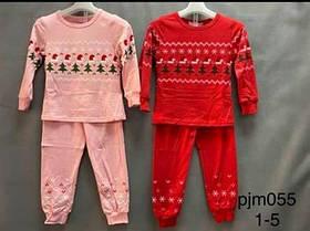 Детские пижамы для девочки Новогодняя. Венгрия. 1-5 лет.