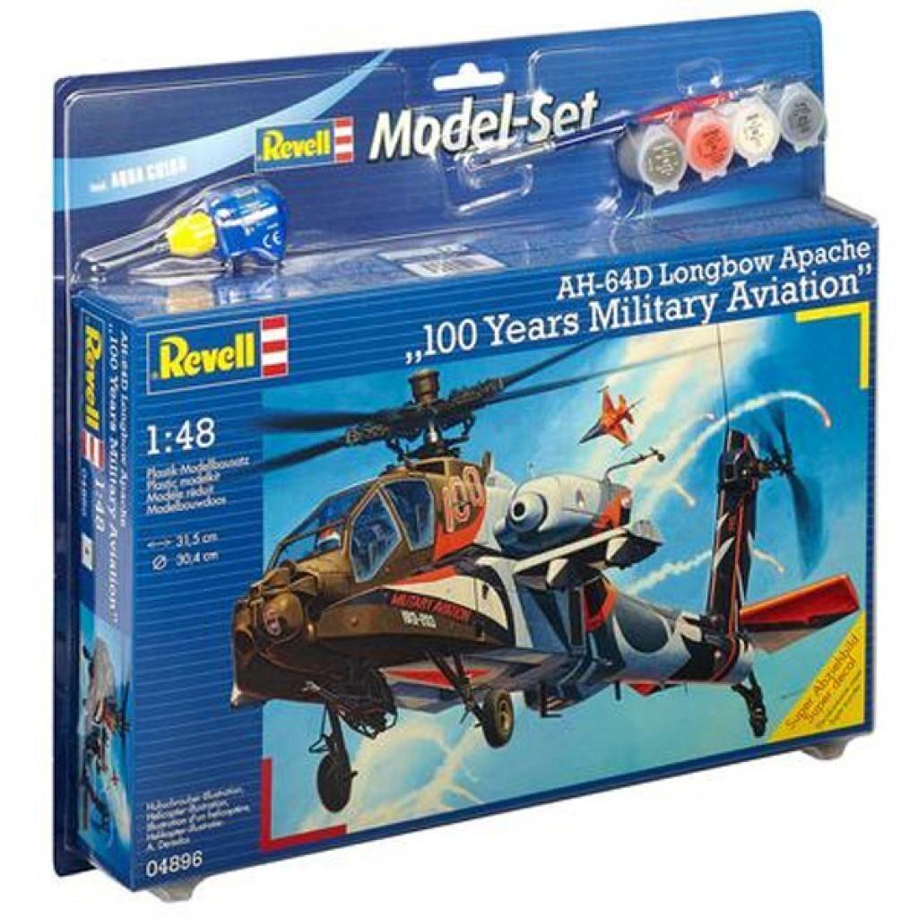 Сборная модель Revell Вертолет AH-64D Apache 100-Mil 1:48 (64896)