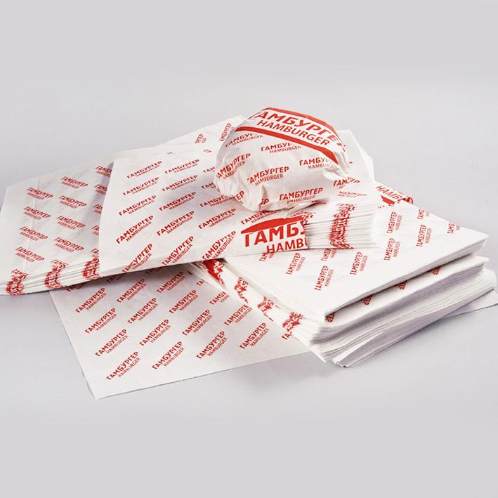 Бумага оберточная Гамбургер Рисунок 300х320 1000шт