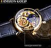 Механические часы с автоподзаводом Forsining Legend (black-gold), фото 8