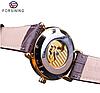 Механические часы с автоподзаводом Forsining Legend (brown-gold), фото 7