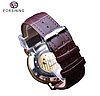 Механические часы с автоподзаводом Forsining Legend (brown-gold), фото 9
