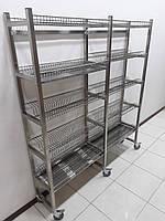 Стеллаж для сушки посуды на колесах 1600х320х1800, фото 1