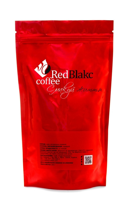 Кофе Бейлис RedBlakcCoffee, молотый 250 г