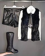 Модная подростковая одежда кожаные шорты для девочки