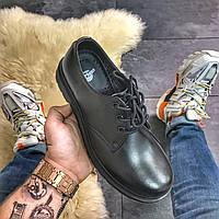 Мужские кожаные туфлиDr Martens 1461 Mono Black.