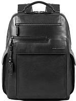Кожаный городской рюкзак Piquadro Vostok черный 26 л