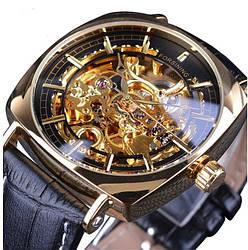 Механические часы с автоподзаводом Forsining Basuka (black-gold)