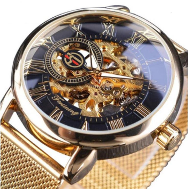 Механические часы Forsining Rich (gold)