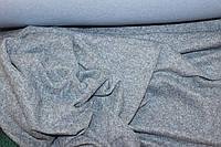 Ткань Ангора софт трикотажная, цвет серо голубой светлый , пог. м., фото 1