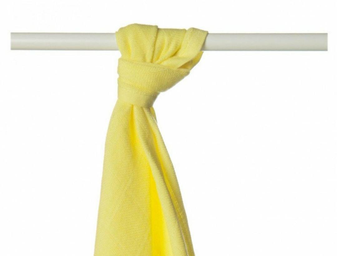 Пеленка бамбуковая, муслиновая XKKO 90x100 двухслойная 1 шт. Лимонная
