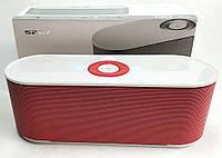 Портативная колонка bluetooth блютуз акустика для телефона мини с флешкой повербанк радио FM красная S207