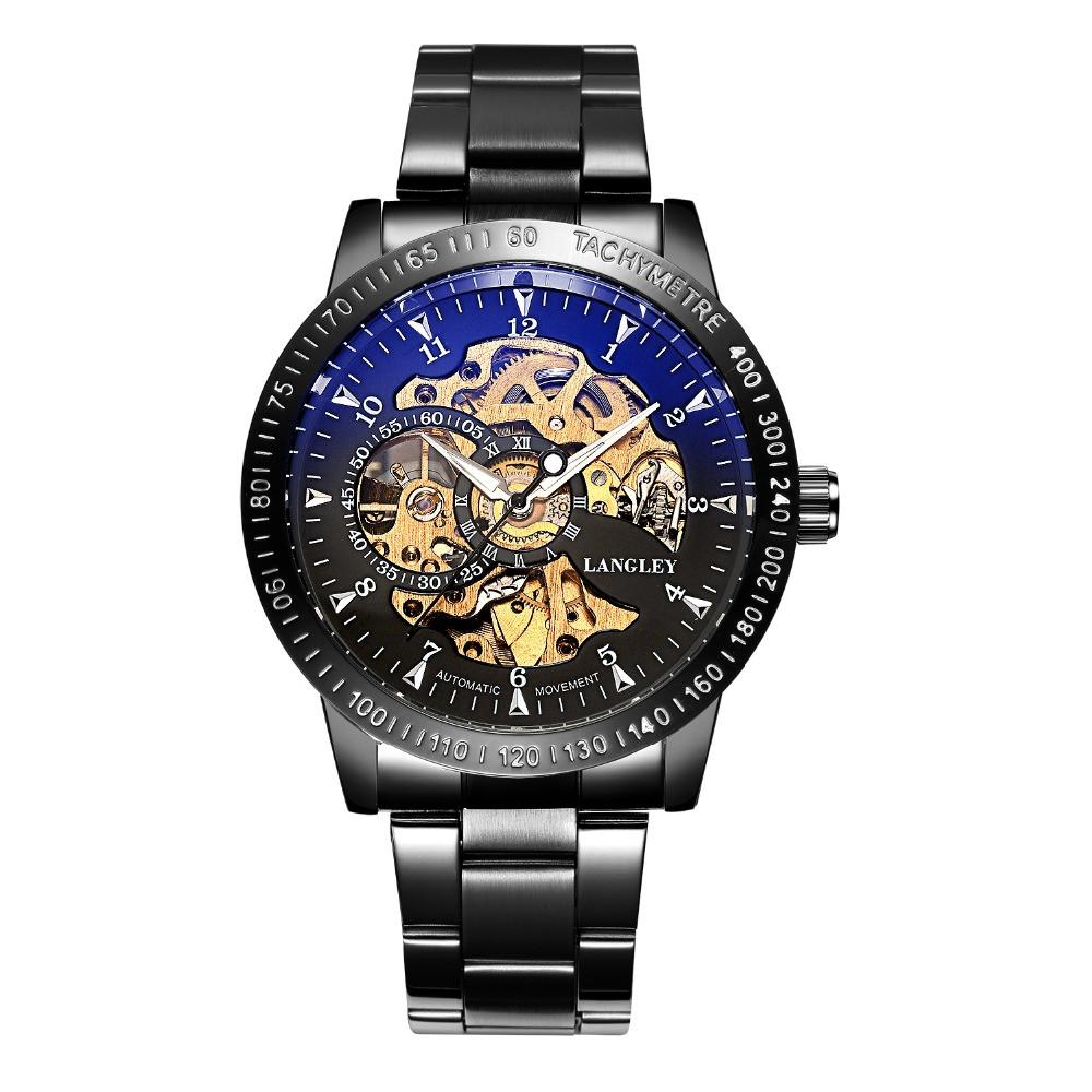 Механические часы с автоподзаводом Winner Tony (black)