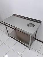 Стол для сбора отходов из нержавеющей стали 1160х600х850, фото 1
