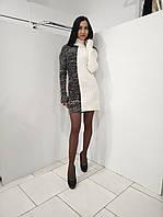 Вязаное женское платье - домино