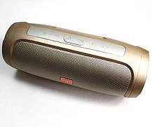 Портативная колонка bluetooth блютуз акустика для телефона с флешкой повербанк золото CHARGE4, фото 2