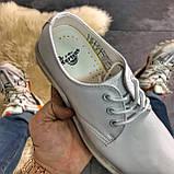 Кожаные туфли, демисезонные Dr Martens 1461 Triple White. Топ продаж., фото 2