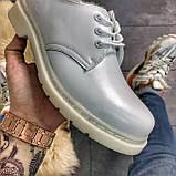 Кожаные туфли, демисезонные Dr Martens 1461 Triple White. Топ продаж., фото 3