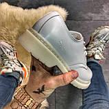 Кожаные туфли, демисезонные Dr Martens 1461 Triple White. Топ продаж., фото 4