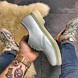 Кожаные туфли, демисезонные Dr Martens 1461 Triple White. Топ продаж., фото 5