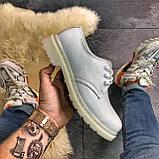 Кожаные туфли, демисезонные Dr Martens 1461 Triple White. Топ продаж., фото 7