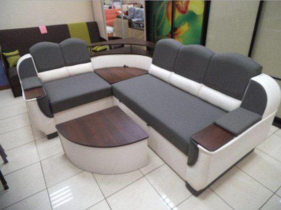Диван угловой Корадо со столиком Вико серый