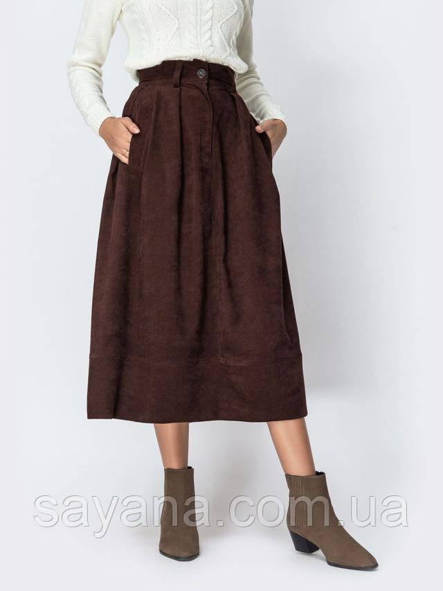 женская вельветовая юбка