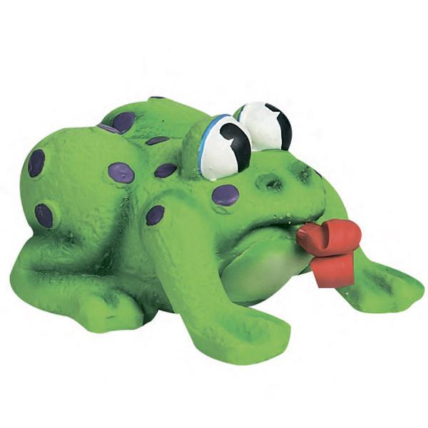 Игрушка для собак и щенков Лягушка с языком Flamingo Frog Pop-Up Tongue латекс 11х10х6,5 см