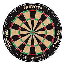 Дартс мишень из сизаля Harrows Official + 6 дротиков, фото 2