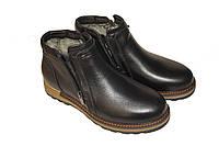 Ботинки на натуральном меху/искусственная шерсть гладкая кожа/нубук