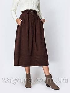 Женская вельветовая юбка, 3 цвета, р-р 48-50. ЛП-3-1-1019(751)