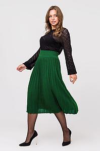 Вязаная юбка плиссе