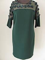 Платье красивое нарядное, крой полуприталенный размер 50, код 1651М
