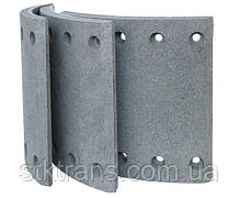 Барабанные тормозные накладки к прицепам BPW, с заклепками 41016/1+1