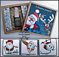 """Шоколадний набір """"З Новим роком з віскі  Джек Деніелс"""" . Оригінальний новорічний подарунок під ялинку."""