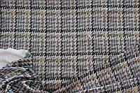 Ткань  софт принт , гусиная лапка беж, широкая,  штамп глистера  пог. м., №905, фото 1