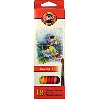 """Акварельные карандаши """"Mondeluz """" 18 цветов (2,8мм)"""