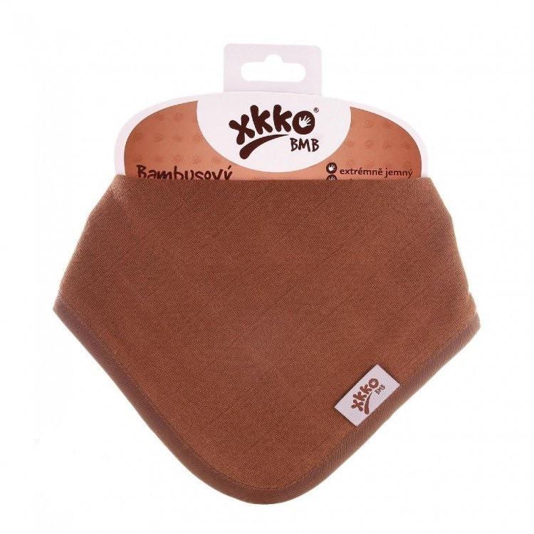 Слюнявчик бамбуковый, муслиновый  ХККО трехслойный 1 шт. Молочный шоколад