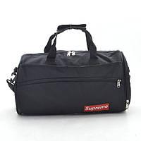 Дорожная спортивная сумка Supreme черная 192631, фото 1