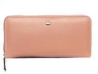 Женский кожаный кошелек -визитница 20*10*3 розовый, фото 1