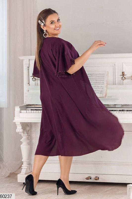 Красивое платье для полных фиолетовое, фото 2