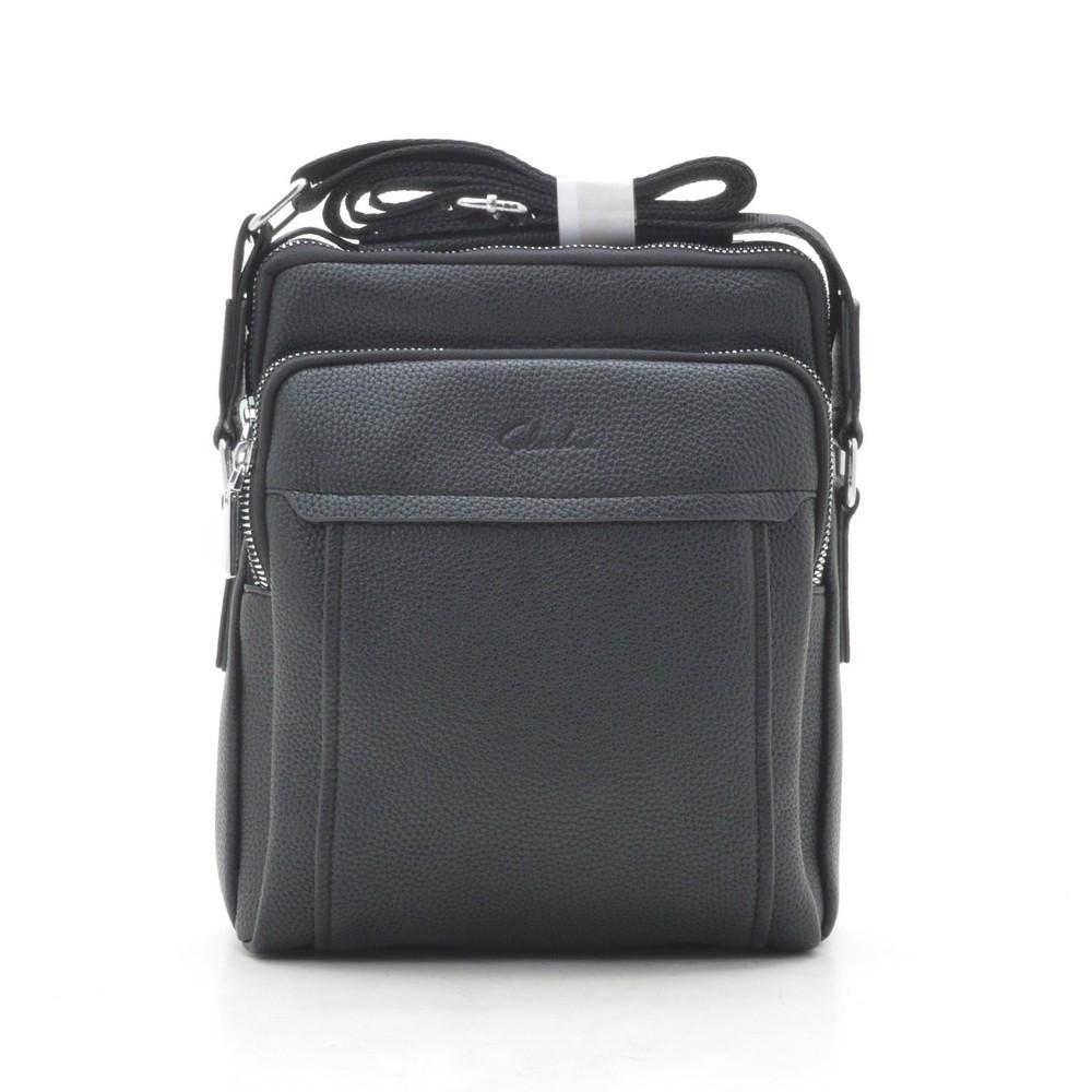 Мужская сумка через плечо черная 186395