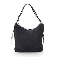 Женская сумка черная мягкая искусственная замша 191436, фото 1