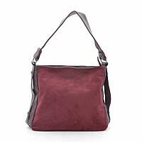 Женская сумка красная мягкая искусственная замша 191466, фото 1