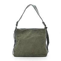 Женская сумка зеленая мягкая искусственная замша 191472, фото 1