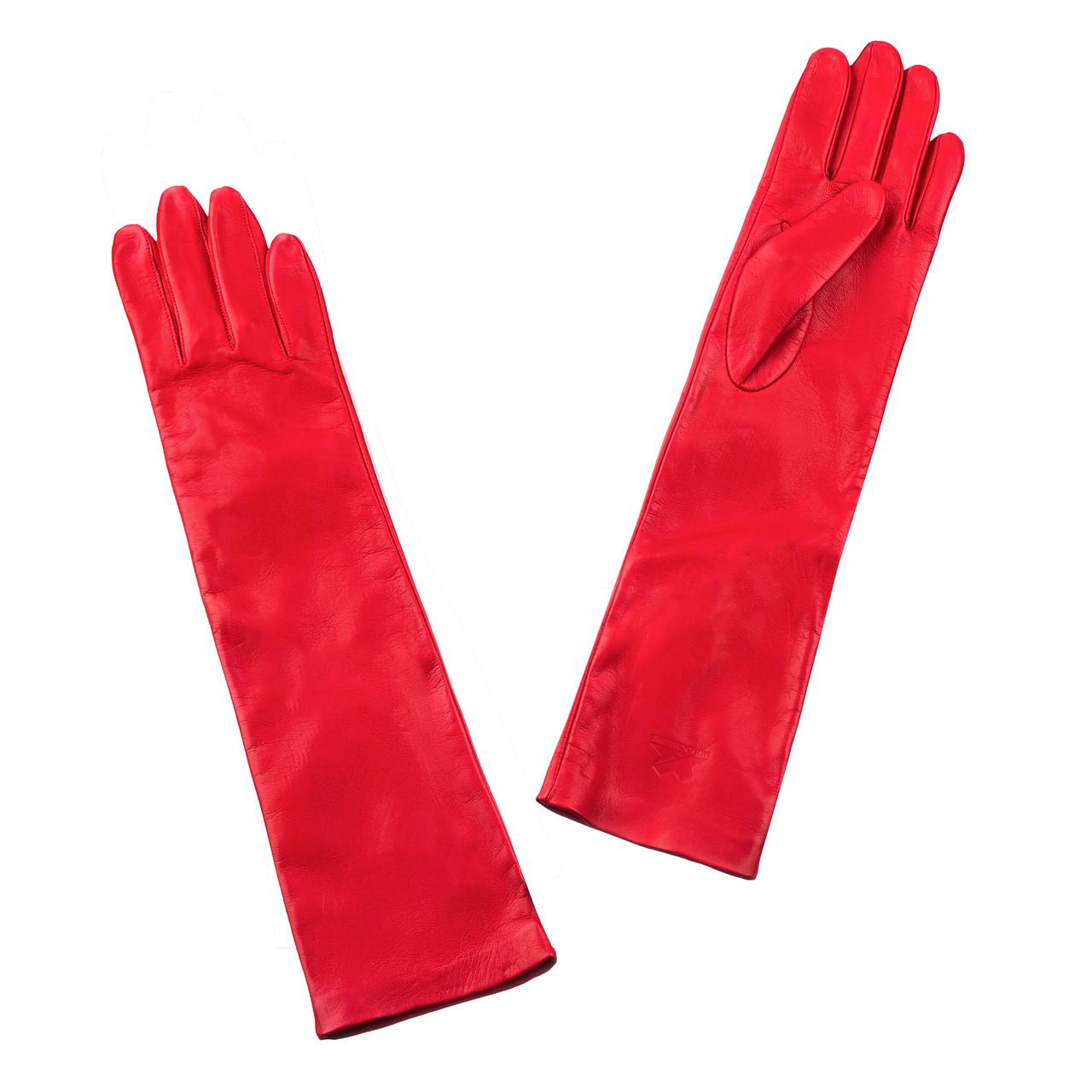 Перчатки The Monochrome 7 кожаные Красные (SS_1869a-red)