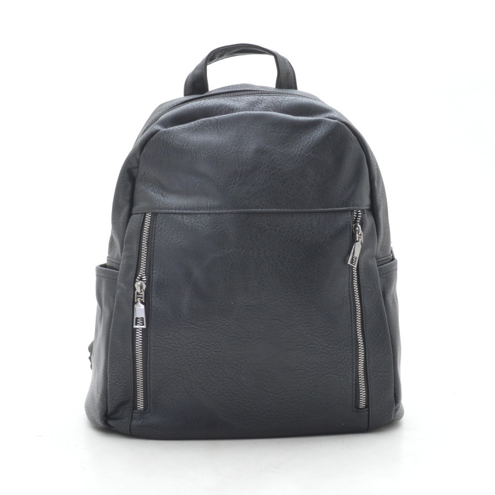 Рюкзак женский черный, мягкий кожзам 192347