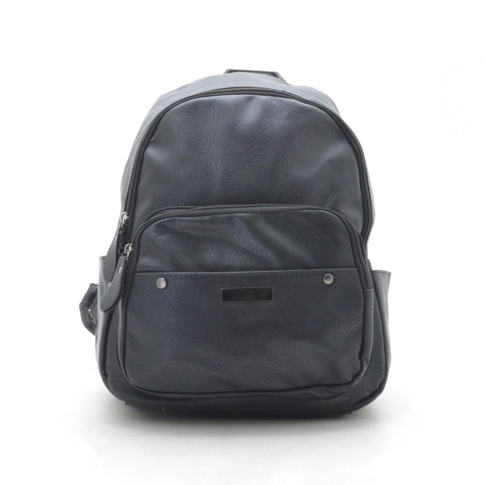 Рюкзак женский черный, мягкий кожзам 192349